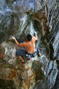 Rock Climbing Photo: Nick crushing it...