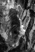 Rock Climbing Photo: Nick catching a rest in the eye of the storm, the ...