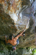 Rock Climbing Photo: Nick, just starting in on the roof of Dodge the Le...