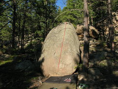 Rock Climbing Photo: Not many options or different possibilities here.