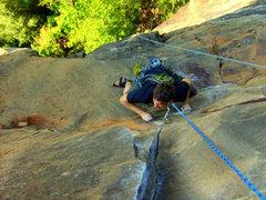 Rock Climbing Photo: 2nd pitch PW