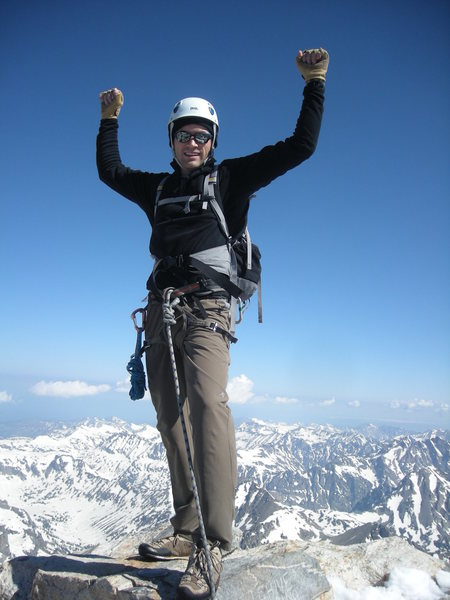 Standing on the Summit, Grand Teton.<br> <br>