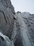 Rock Climbing Photo: Whimpsickle in Feb '08, a lean year.  Photo:  Crai...