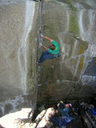 Rock Climbing Photo: Matt starting up the splitter fingers in the corne...