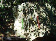 Rock Climbing Photo: The three lines are Word to Your Mother = red arro...