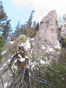 Rock Climbing Photo: The neglected phallic tower on a near winter attem...