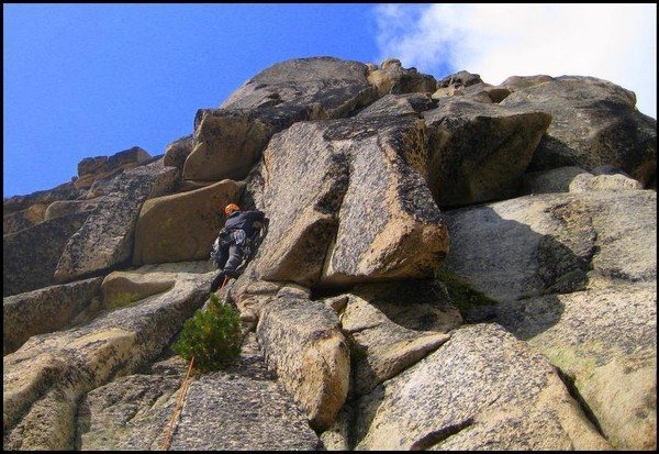 Rock Climbing Photo: P5 - The first pitch off the big ledge.