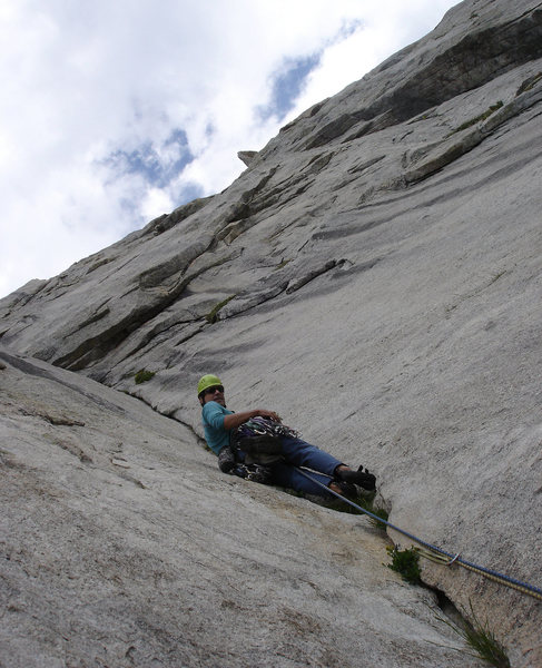 Start of the harder climbing - superb rock!