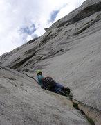 Rock Climbing Photo: Start of the harder climbing - superb rock!