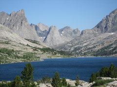 Rock Climbing Photo: Looking across Deep Lake to the Cirque.