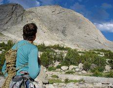 Rock Climbing Photo: The beautiful Southern Wall of Haystack!