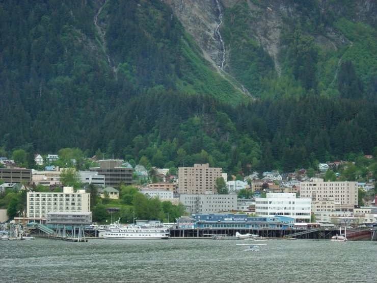 Juneau from the water.  May '07.