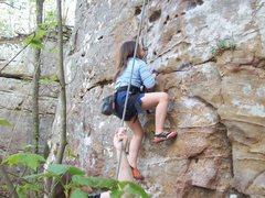 Rock Climbing Photo: Ms Kianna pumpin it out.
