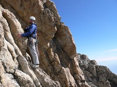 Rock Climbing Photo: Soloing on the Upper Exum