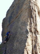 Rock Climbing Photo: Lost Time just above the chimney/flake system, and...