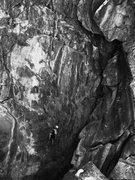 Rock Climbing Photo: Stefan in B&W.
