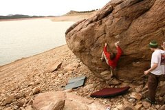 Rock Climbing Photo: carter lake