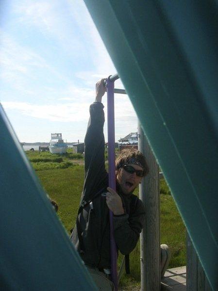 egegik AK salmon fishing...and trying to climb