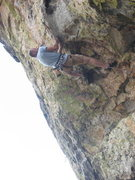 Rock Climbing Photo: Vince Bates figures out the crux for the first tim...