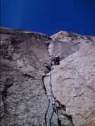 Rock Climbing Photo: Devils Tower? Nope. 2nd pitch on TYT.