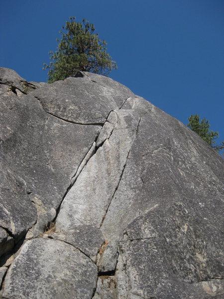 Rock Climbing Photo: The double cracks of Ski Tracks Crack.