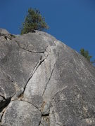 Rock Climbing Photo: The double cracks of Ski Tracks Crack.
