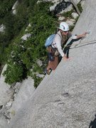 Rock Climbing Photo: Maura on pitch 2 of The Ross Connection.