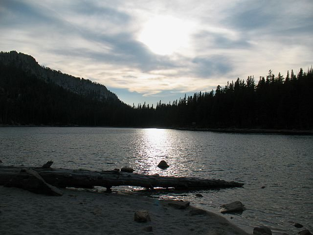 Rock Climbing Photo: Evening at McLeod Lake, Mammoth Lakes Basin