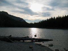 Rock Climbing Photo: Evening at McLeod Lake, Mammoth Lakes Basin