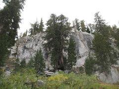 Rock Climbing Photo: The Spring Wall from below, Mammoth Lakes Basin
