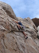 Rock Climbing Photo: Mike Williams on the finishing moves of Had a Lean...