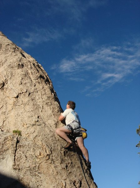 The lower section of the arete on a beautiful June afternoon.<br> <br> Photo by Michelle