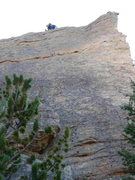Rock Climbing Photo: This photo shows most of the route except for the ...