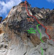 Rock Climbing Photo: This photo, taken late in season, shows most of th...