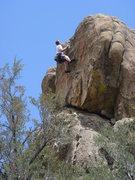 Rock Climbing Photo: Jochen just past the crux, finishing Central Park.