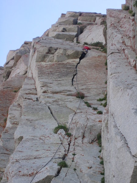 Rock Climbing Photo: Tyler in the maw, wondering how this route only ge...
