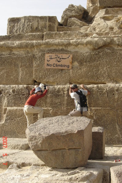 Rock Climbing Photo: Pyramid of Egypt, The wife and I taken by the tour...
