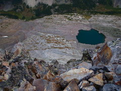 Rock Climbing Photo: Looking down Wham Ridge from the top of the face. ...