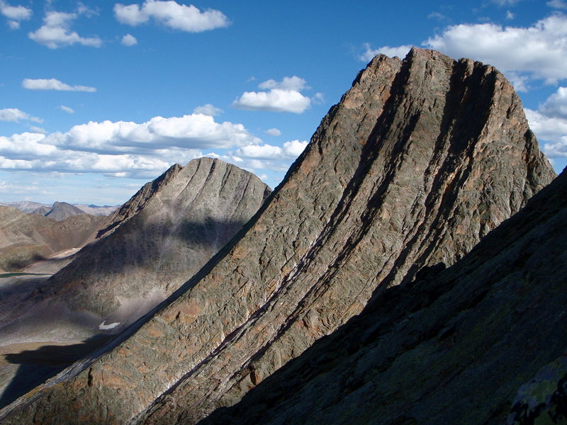 Rock Climbing Photo: Vestal Peak and Wham Ridge as viewed from the Nort...