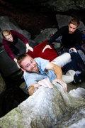 Rock Climbing Photo: Morgan fighting the Viper