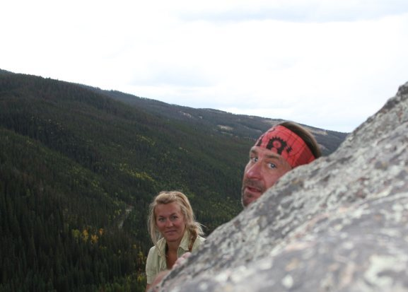 i took this guy climbing. it was rad, as you can tell by his headband.