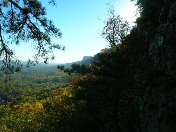 I miss the Gunks!  Somewhere on a rappel station.