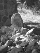 Rock Climbing Photo: Johnny Ringo Grave near Chiricahua NM