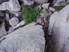 Rock Climbing Photo: View from the top, scary landing!
