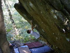 Rock Climbing Photo: Dobbe loving it.