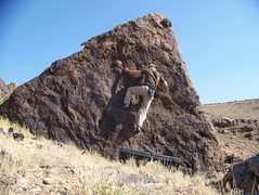 Rock Climbing Photo: The boulder, looking north.