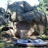 Bonsai boulder. Crash pad and accoutrements for scale.