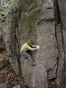 Rock Climbing Photo: Vince getting established on Jameson.