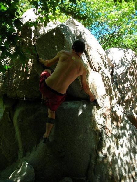 Rock Climbing Photo: pat on pat's empty nest