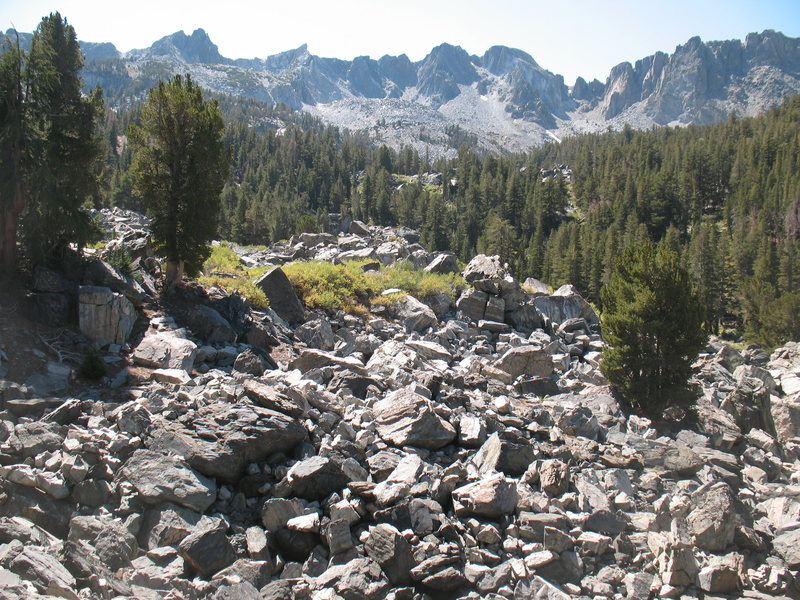The boulderfield near Emerald Lake, Mammoth Lakes Basin.